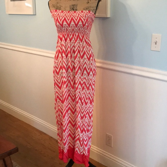 espresso Dresses & Skirts - 💗Summer dress ready! Size Small pink & white maxi